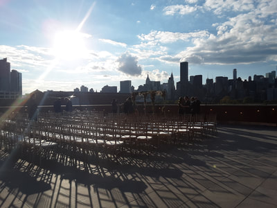 Manhattan skyline view from Long Island City venue.