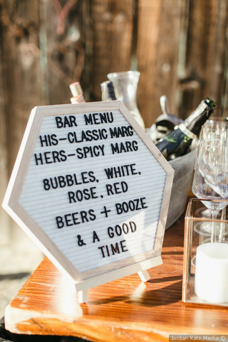 Jordan Katz Media wedding signage photograph