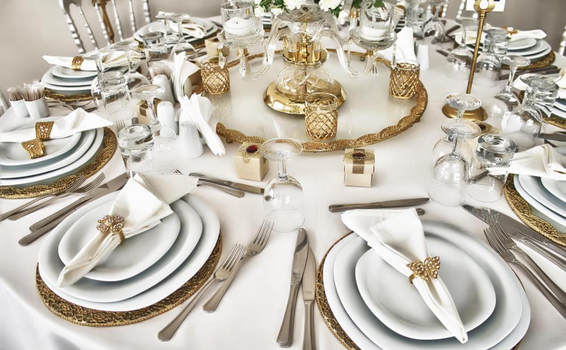 Place setting for events