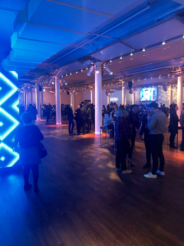 Event attendees mingling at Metropolitan Pavilion NYC.