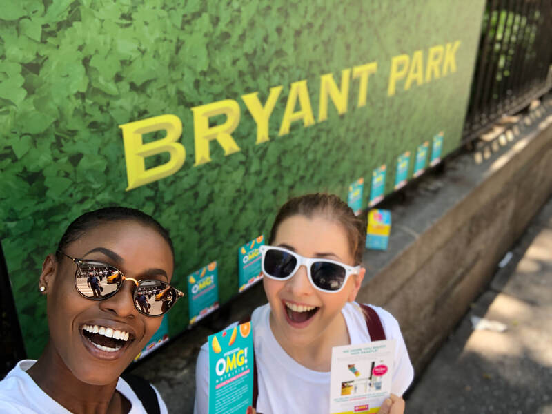 Tapuz Brand Ambassadors at Bryant Park in Manhattan, New York City.