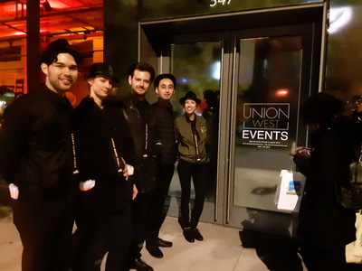 Greeter staff at New York City venue launch.