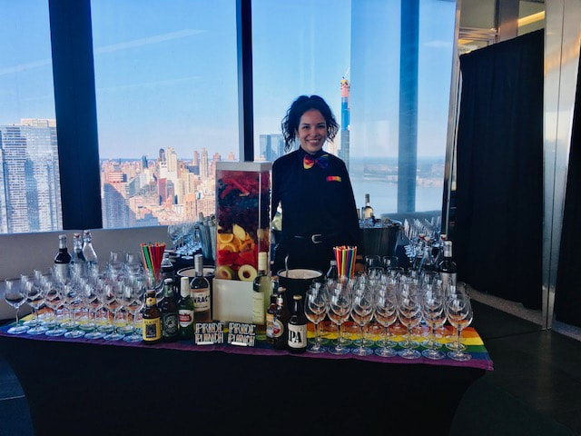 NYC pride 2019 event bartender