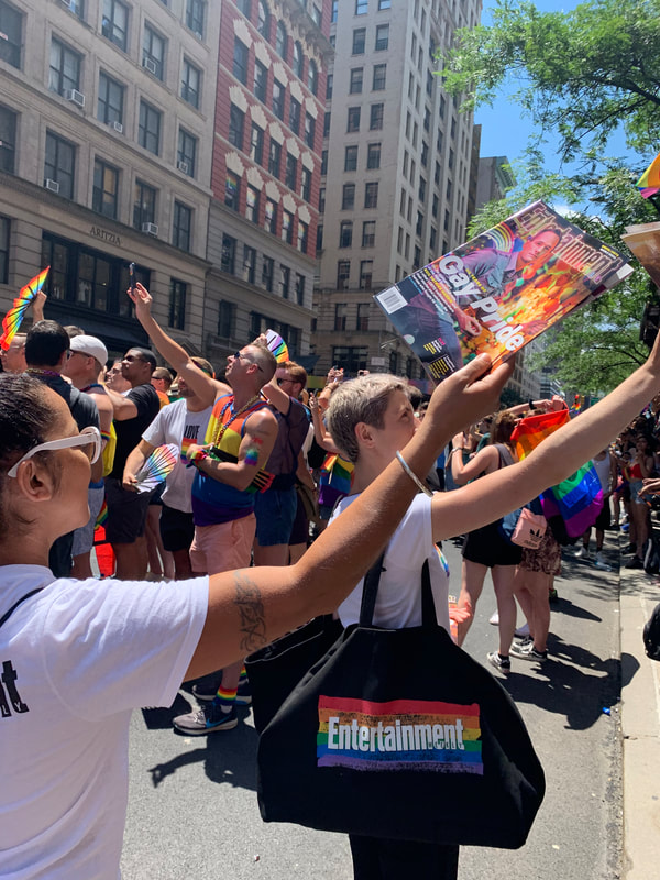 NYC Promotional Staff at Pride Parade