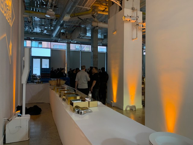buffet set up for catered nyc event